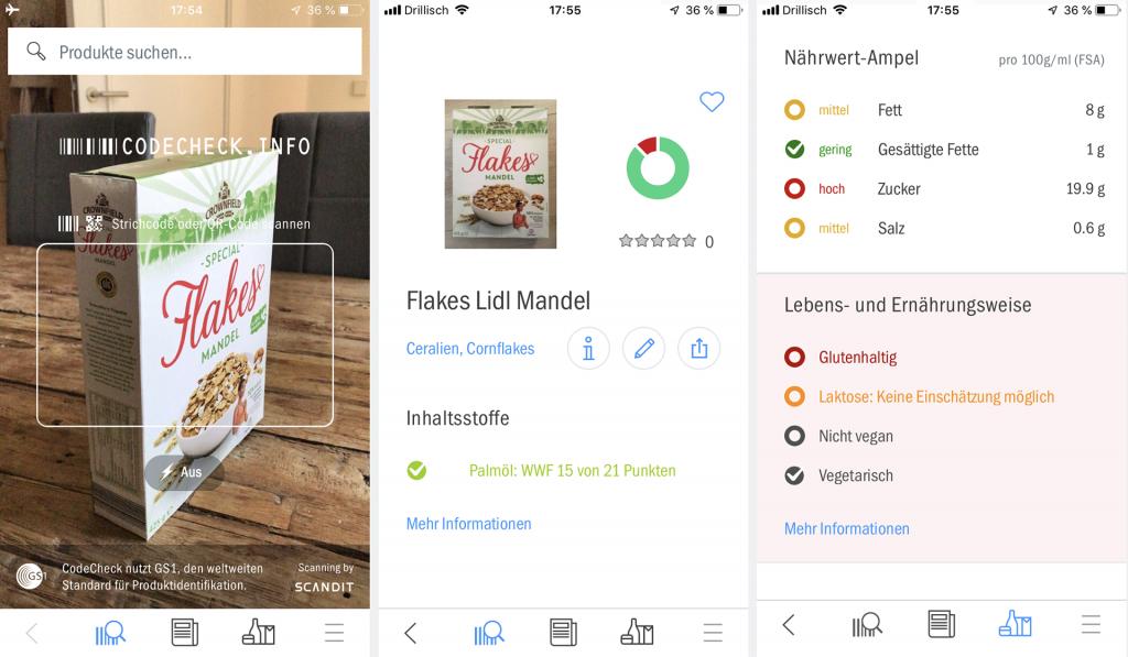 Inhaltsstoffe App