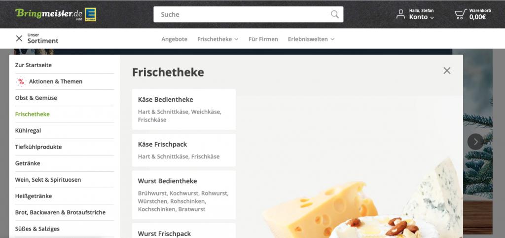 Homepage von Bringmeister