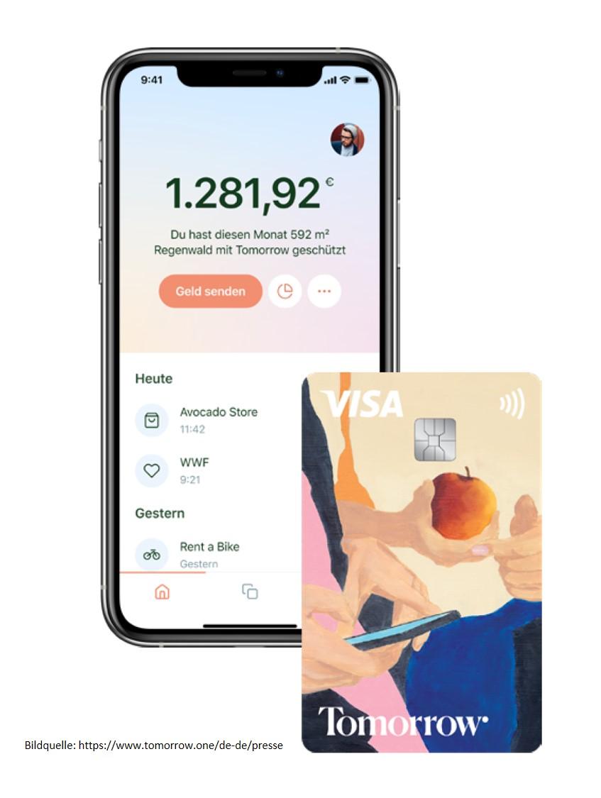 App und Karte von Tomorrow Bank